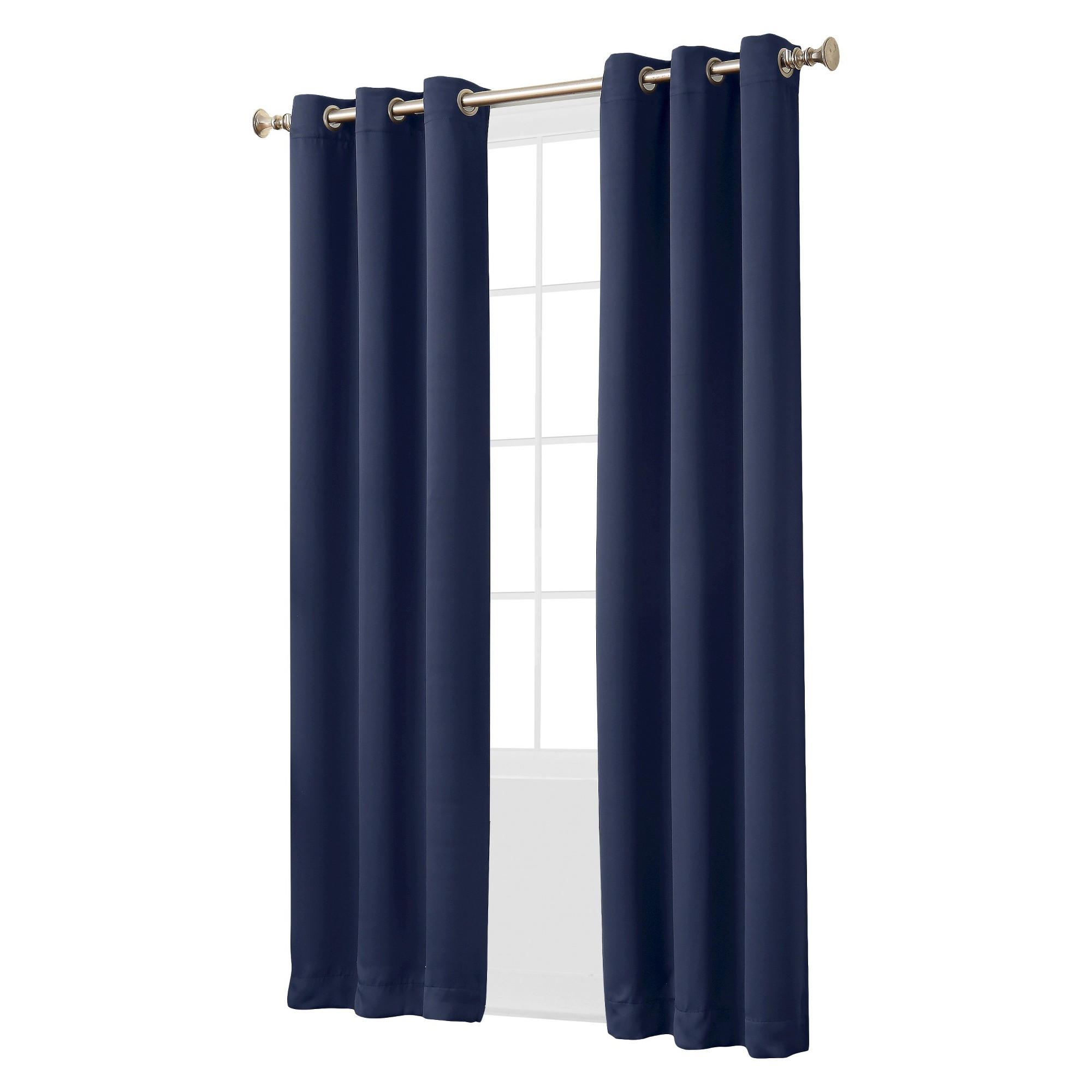 Kenneth Blackout Energy Efficient Grommet Curtain Panel Navy 40 X84 Sun Zero Blue Panel Curtains Cool Curtains Curtains