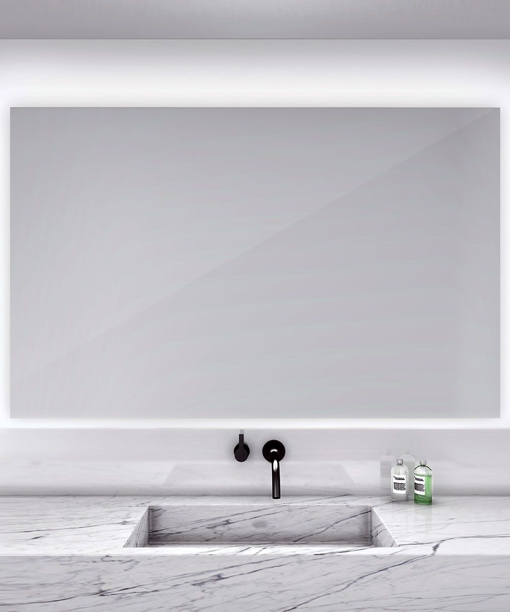 Serenity Rectangular lighted mirror with defogger ...