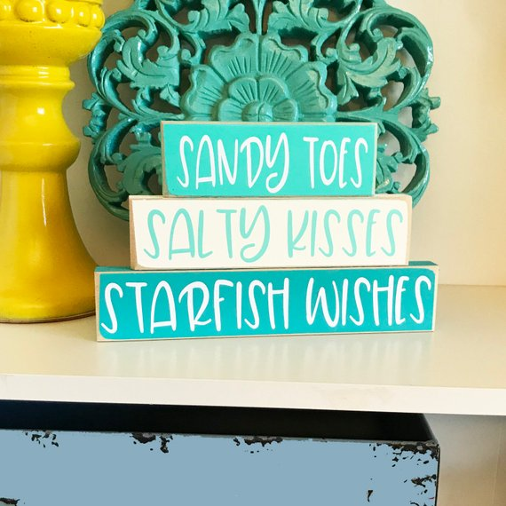 Chunky Shelf Sitters Chalk Couture Canvas Go Beach Day Hang Loose Gift Delicate Yellow Forget Me Not Blue Forget Me Not Blue Yellow Chalk Paint Beach Day