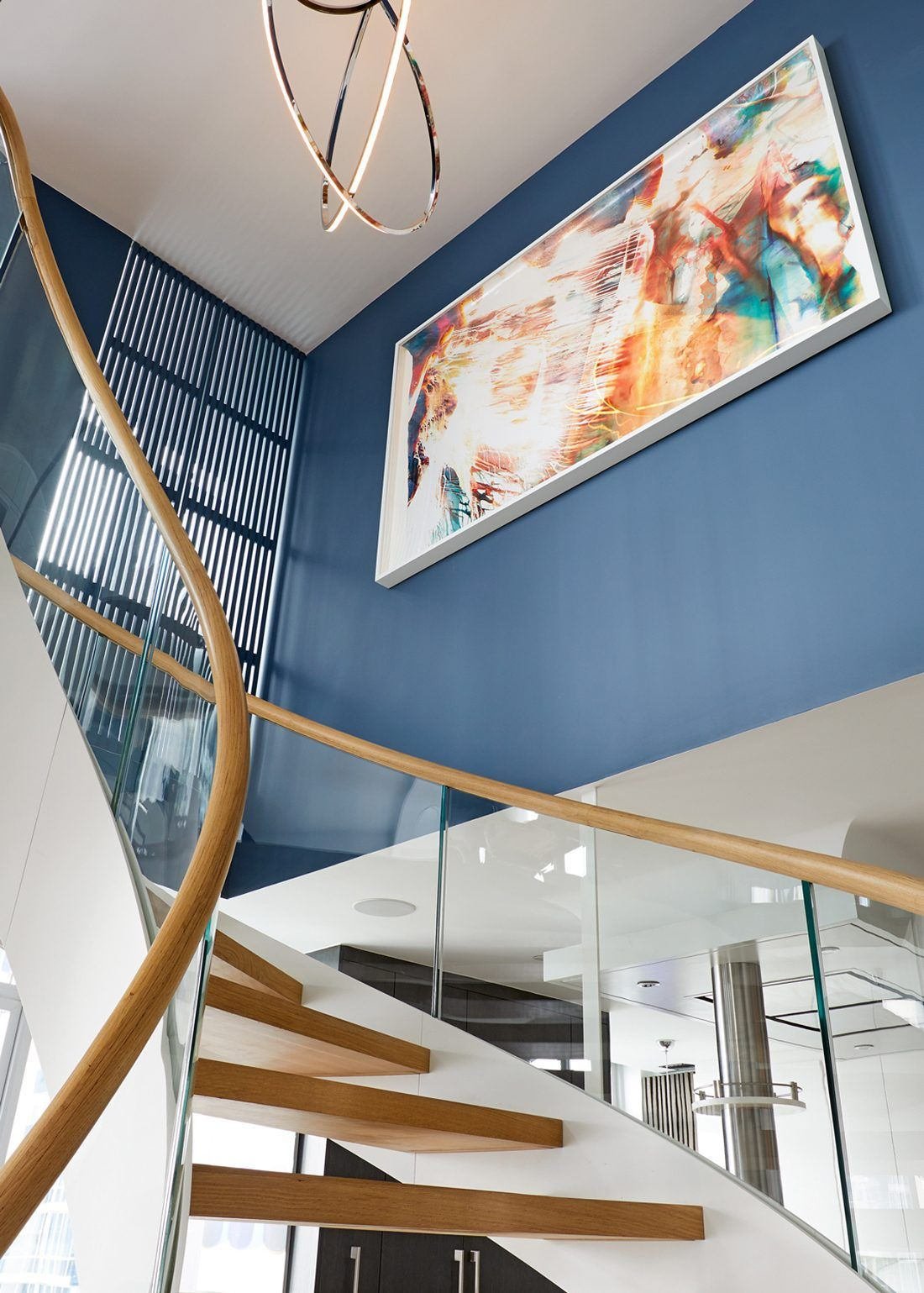 Best Cast Curved Staircase Stars In Nyc Condo Designed By 400 x 300