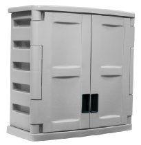 Suncast C2800g Utility 2 Door Wall Cabinet Plastic Storage Cabinets Storage Cabinet Shelves Wall Cabinet