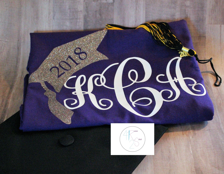 Personalized monogram senior class shirt class of 2020