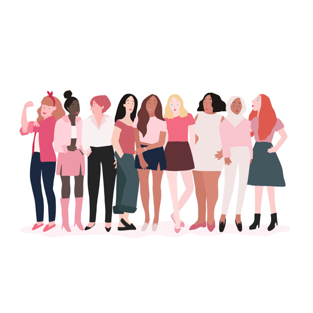 Download Group Of Strong Women Vector for free
