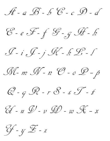 Tipografía   Letras en cursiva mayuscula, Letras para tatuajes ...