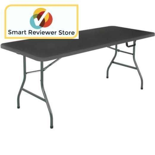 Centerfold Table 6 Black Folding Portable Indoor Outdoor Dining By Mainstays The Mainstays 6 Centerfold Table Comes In Multiple Outdoor Equipment