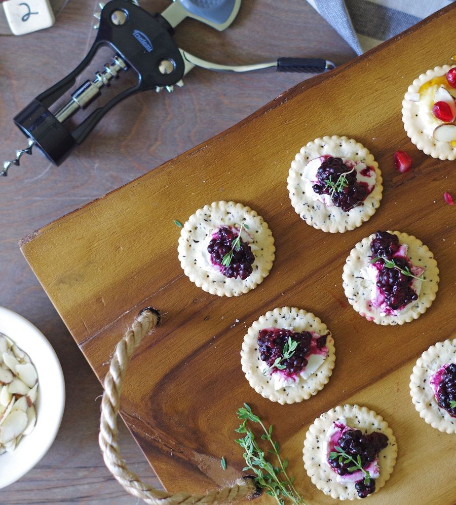 Gluten-Free Appetizers With Blackberry Compote