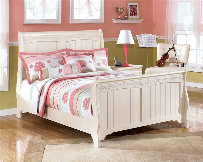 Great Ashley Furniture Cottage Retreat Full Sleigh Bed | Kids Cottage Retreat  Full Sleigh Bed In Cream
