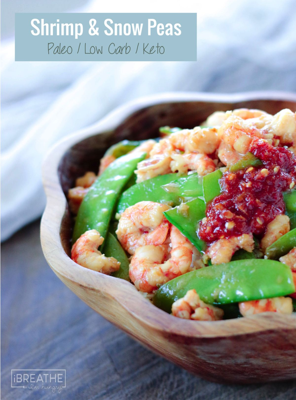 Low Carb Shrimp Snow Peas