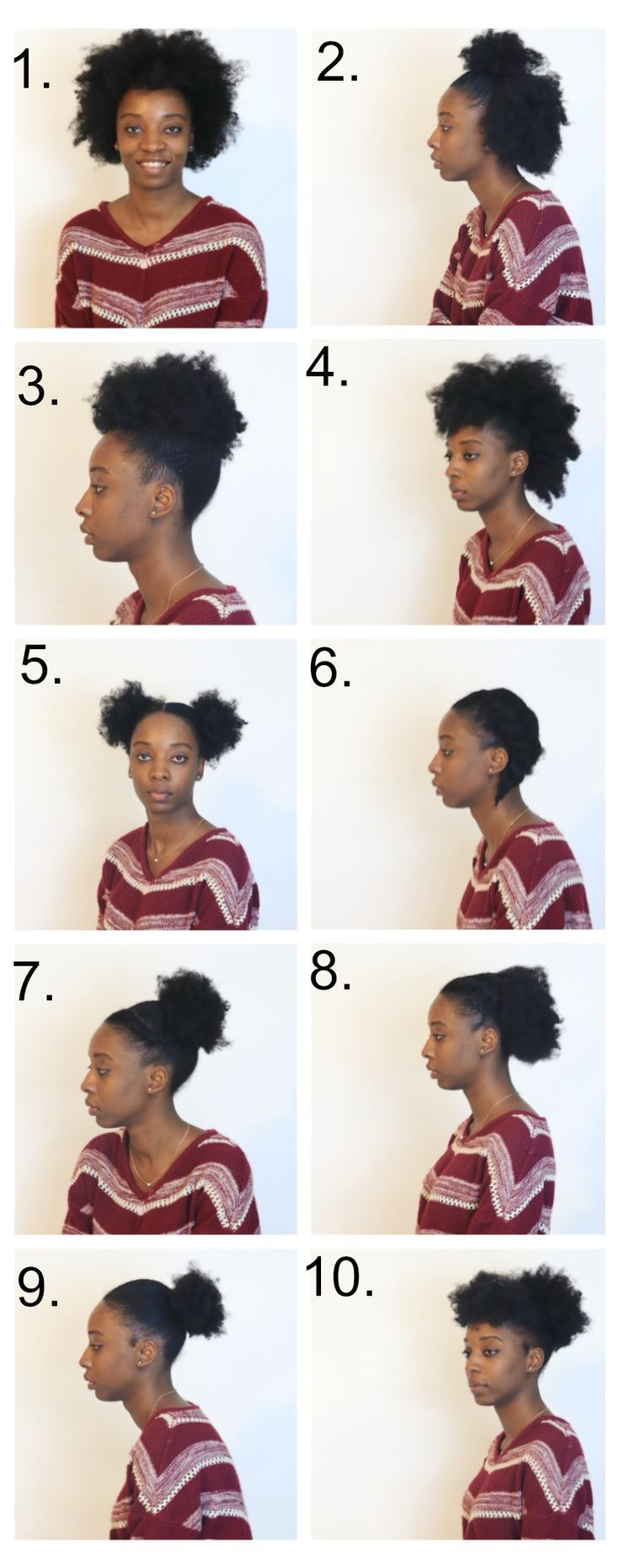 10 Easy Ways To Style Short Natural Hair | Medium natural hair, Easy ...