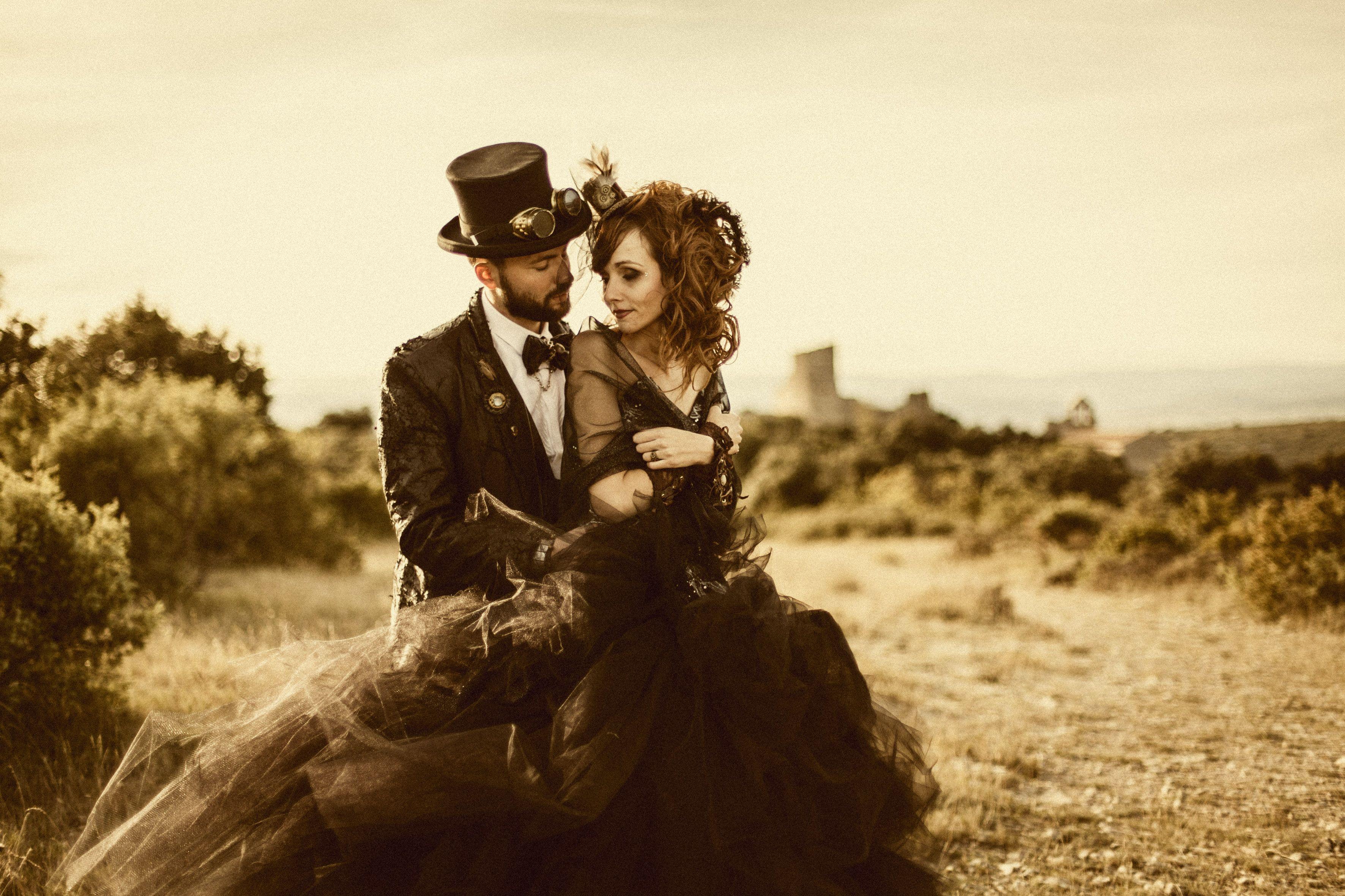 Mariage Steampunk dress robe et costume