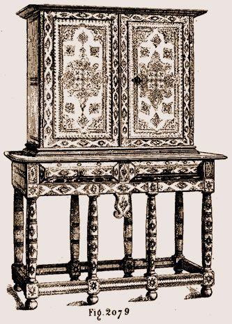 cabinet louis xiii au mus e de cluny dossier louis xiii pinterest meuble de style malle. Black Bedroom Furniture Sets. Home Design Ideas