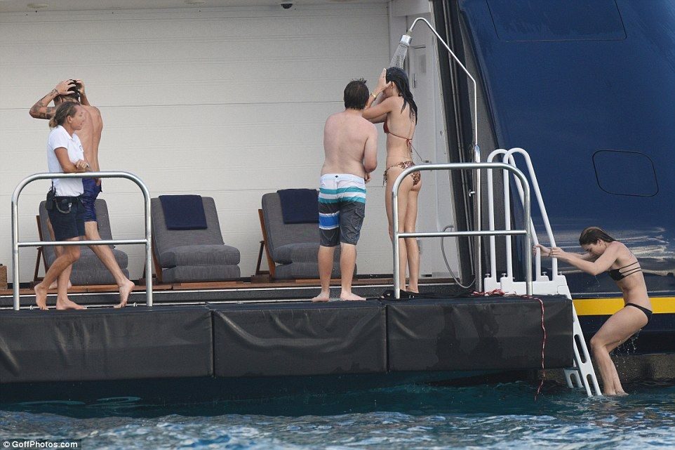 Harry Styles gets his hands on Kendall Jenner in St Barts