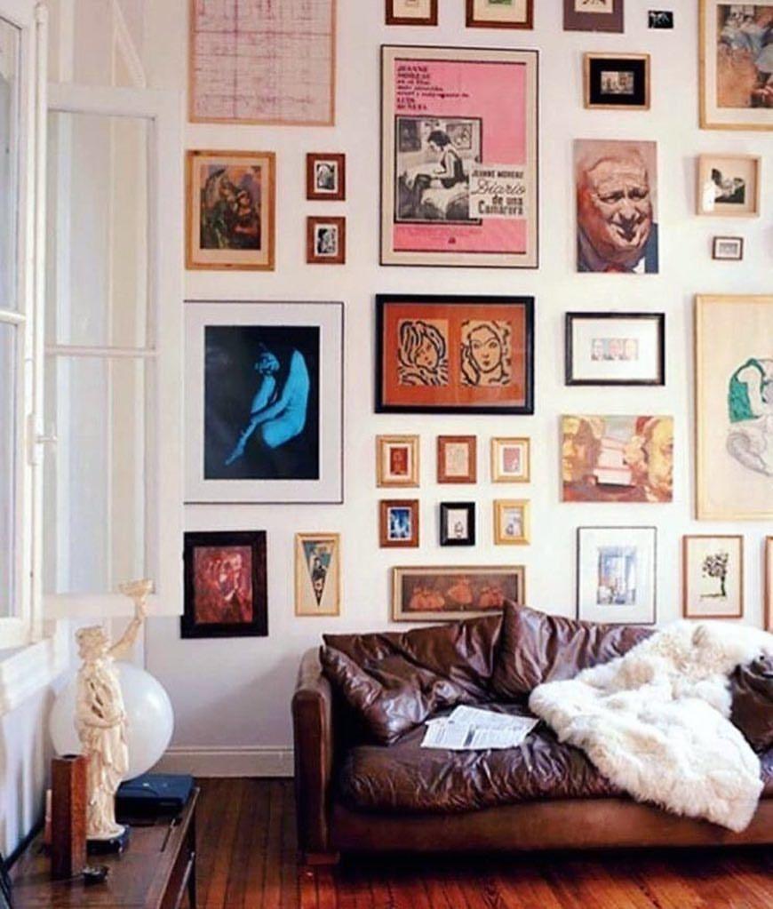 Bilderwand Ganze Wand Vintage Look Kunst Gemalde Rahmen Wohnzimmer