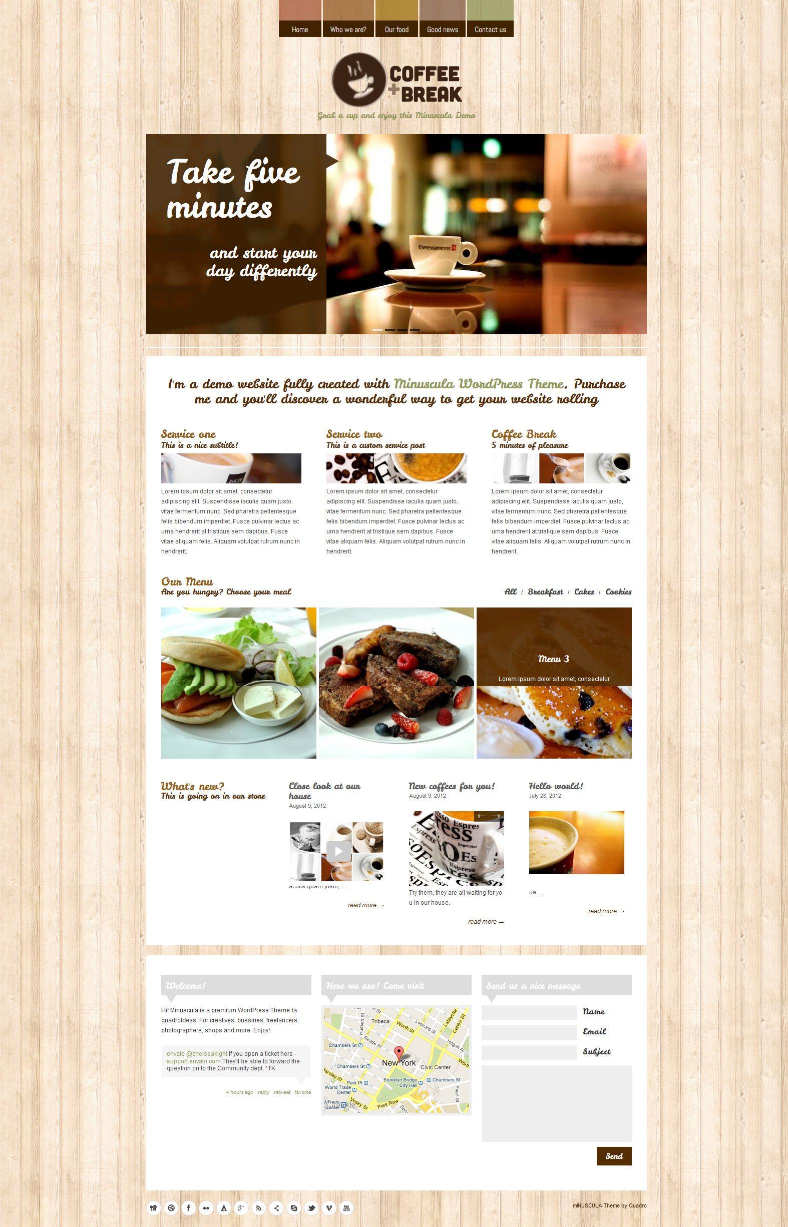 Coffee Break   Responsive, Restaurant, Wordpress Template ...