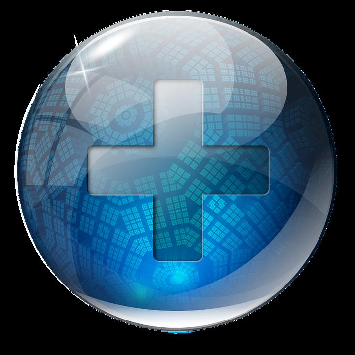Free Image on Pixabay Icon, 3D, Blue, Plus, Glass, Flash