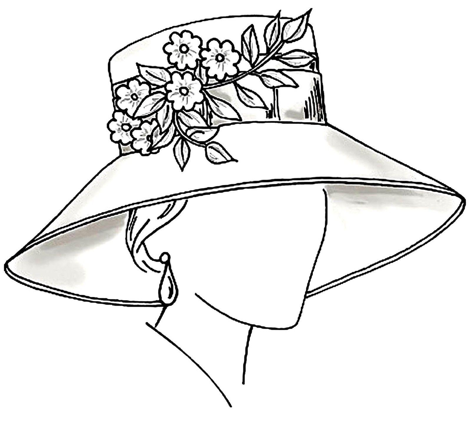головные женские уборы шляпки картинки раскраски мебель создаст