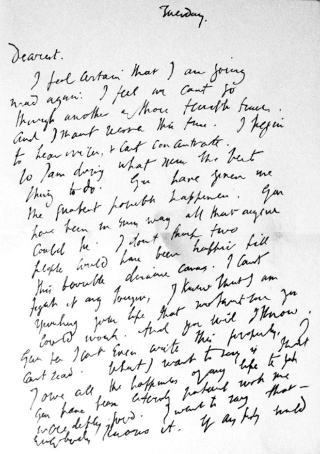 Carta suicida, Virginia Woolf B E L E L Ú Pinterest - love letter to husband
