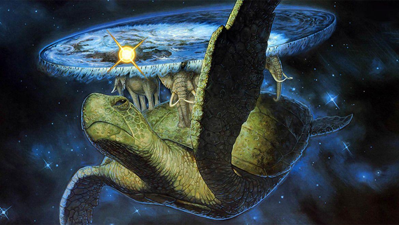 El Mundodisco es un mundo imaginario que sirve de escenario a la saga homónima de novelas escrita p... - #elefantes #fantasia #ficcion #libro #mundodisco #novela #tortuga