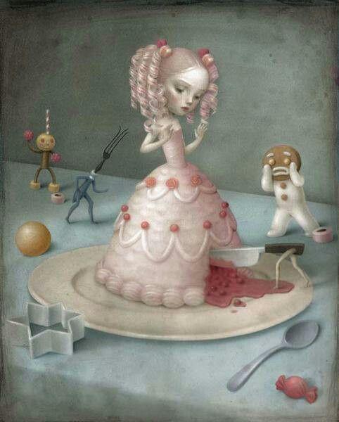 Alice In Wonderland By Nicoletta Ceccoli Arte Dibujos