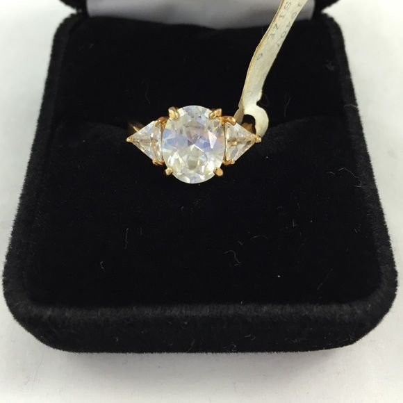 Gold Plated CZ Size 6 gold plated CZ ring Jewelry Rings