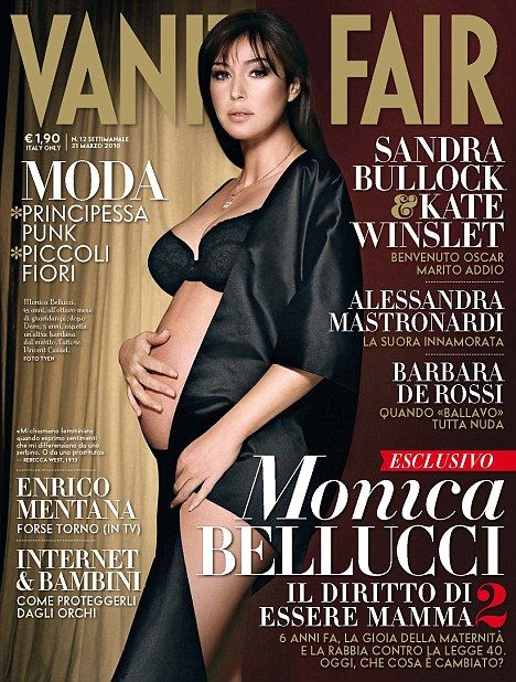Image result for Monica Bellucci italy vanity fair nude pregnant
