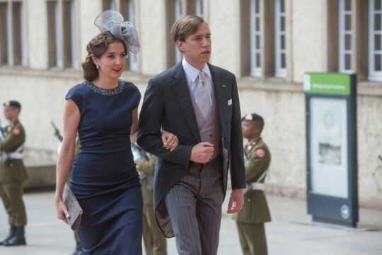 Princess Tessy and prince Louis of Luxembourg.