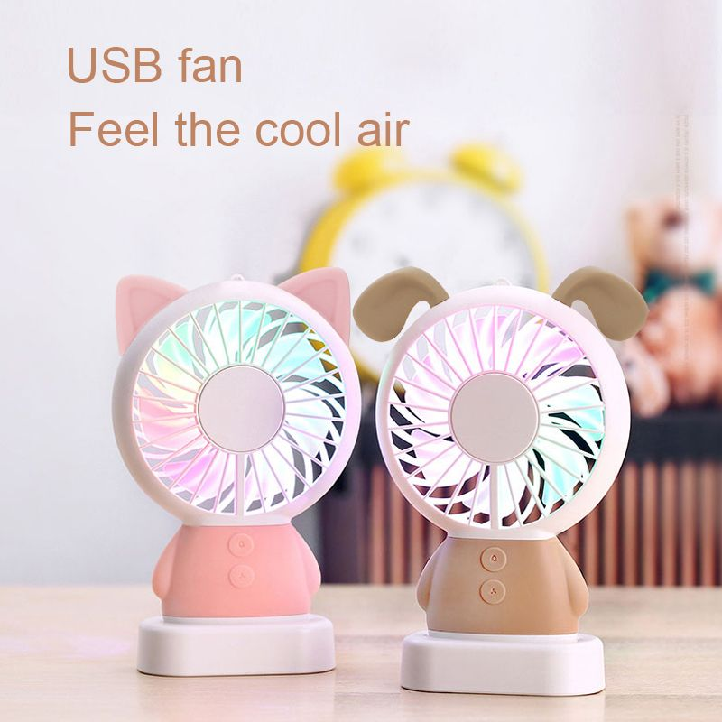 Portable USB Rechargeable Air Cooler Hand-held Outdoor Thin Small Cute Mini Fan