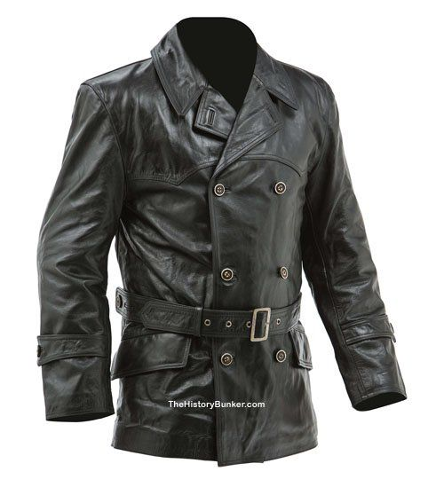 U-Boat Brown Leather Coat All Sizes German Panzer