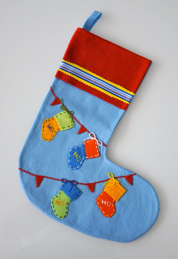 felt christmas stocking -little stockings