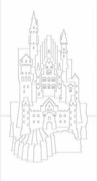 Замок из бумаги своими руками схема