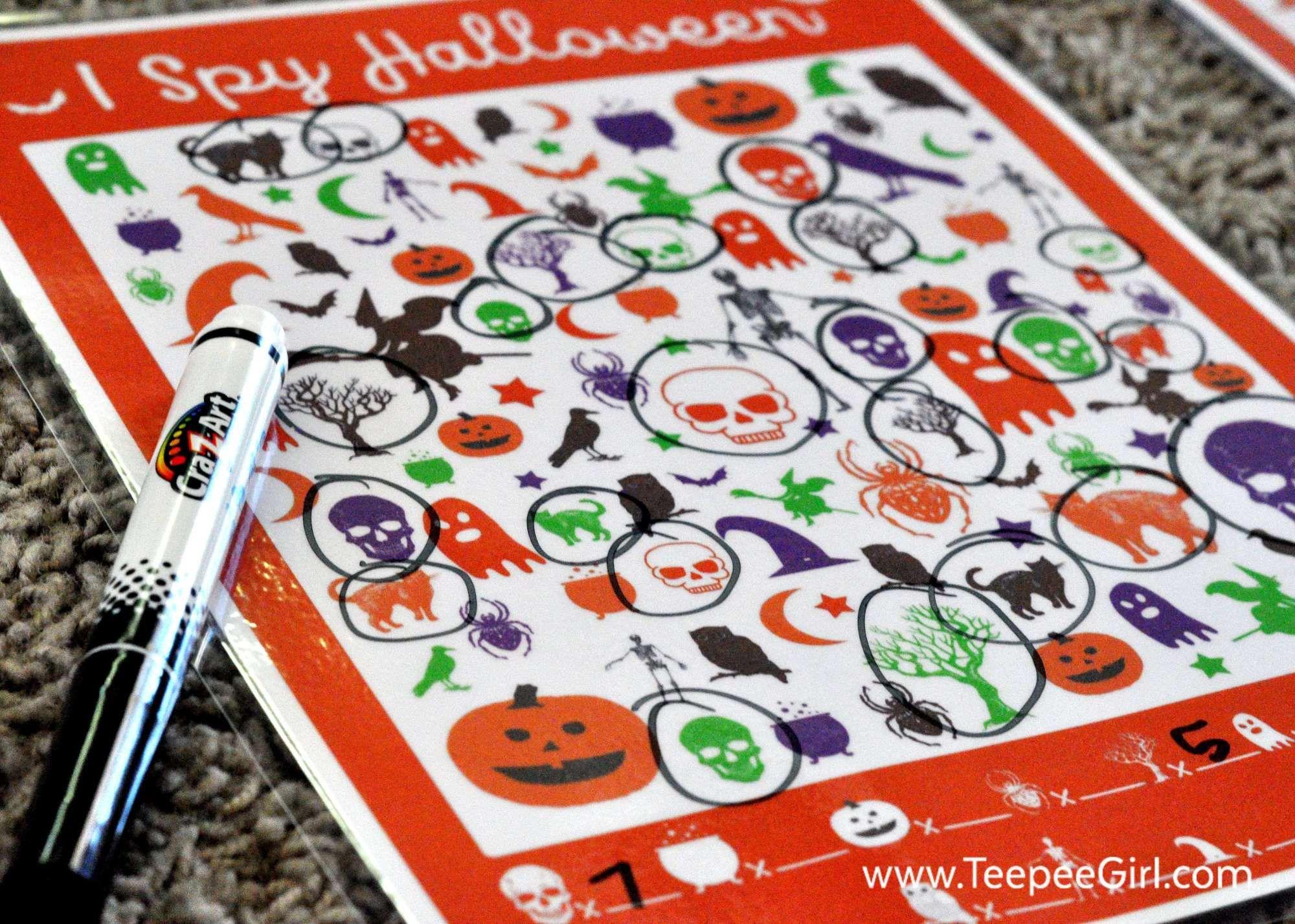 Free I Spy Halloween Printable Game
