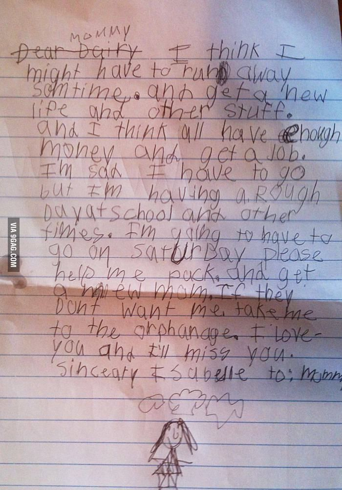 7 year old is leaving home year