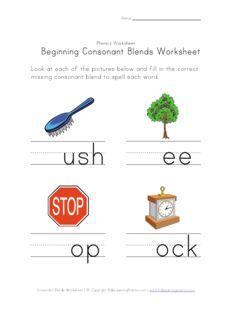 Chic Word Blends Worksheets 2nd Grade for Beginning Consonant ...