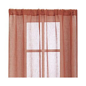 Persimmon Sheer Curtain Panels Panel Curtains Curtains Sheer