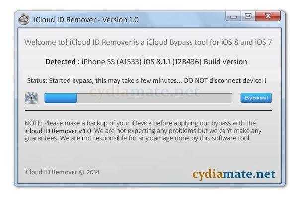 скачать бесплатно программу Icloud Remover - фото 5