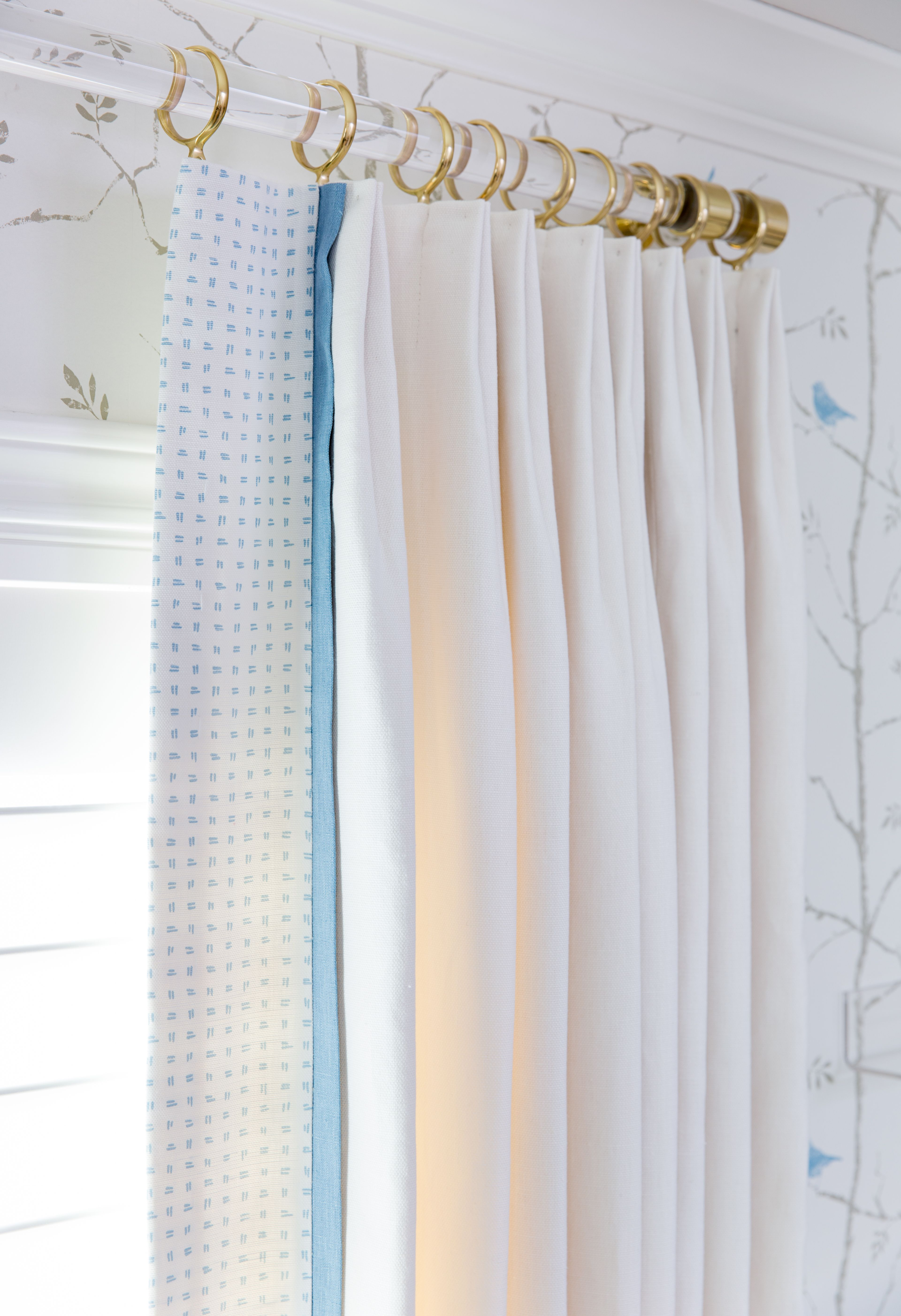 A Sophisticated Gender Neutral Nursery Custom Curtain Rods Drapery Rods Curtain Rods