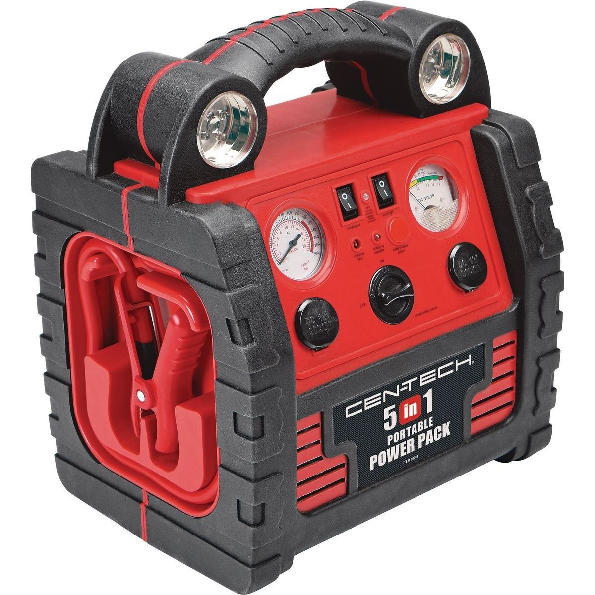 5 In 1 Power Pack With Jump Starter Compressor And Power