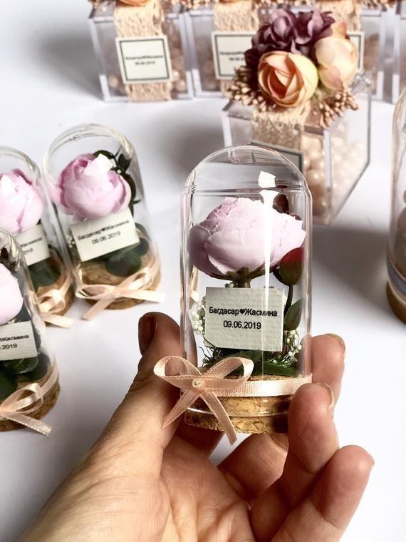 10pcs Mini Beauty and the Beast Rose Domes, Jar favors, Wedding favors, Glass favors, Favors, Wedding favors, Favours, Boho, Baby shower