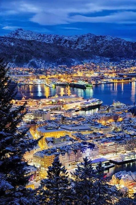Bergen. Won't be as good as when Henny-Penny was directing the theatre there, but still...#norwayswag #soexcited
