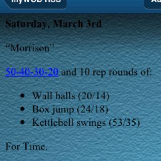 Worst workout I ever finished. 38:01