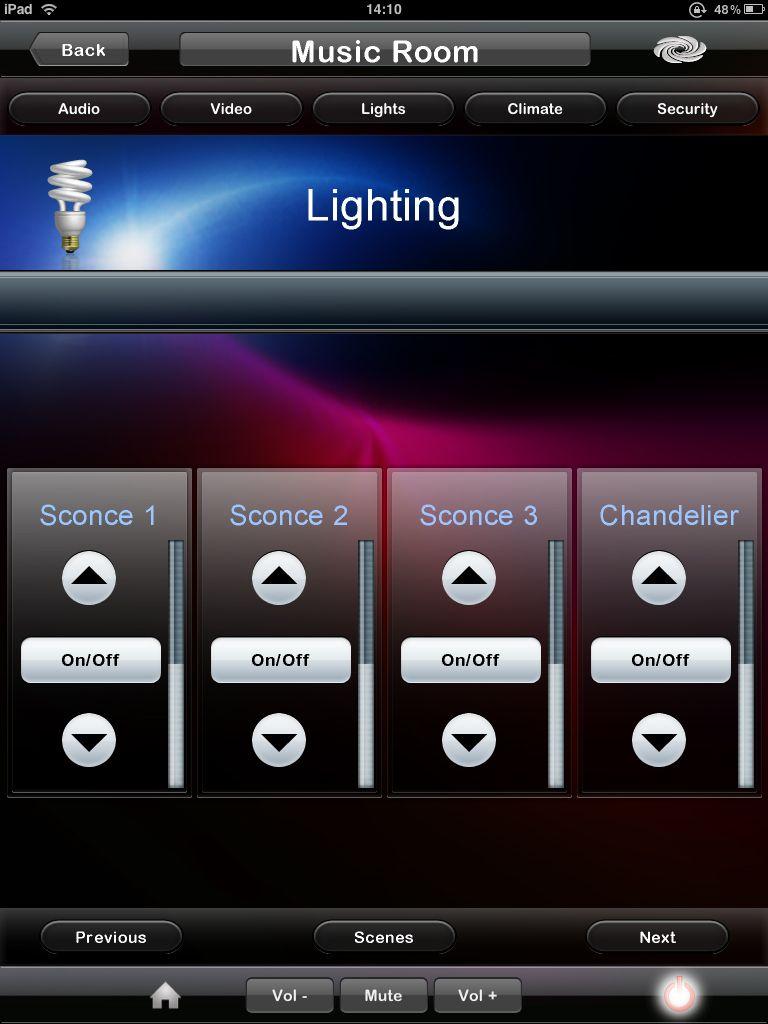 crestron programming ipad lighting