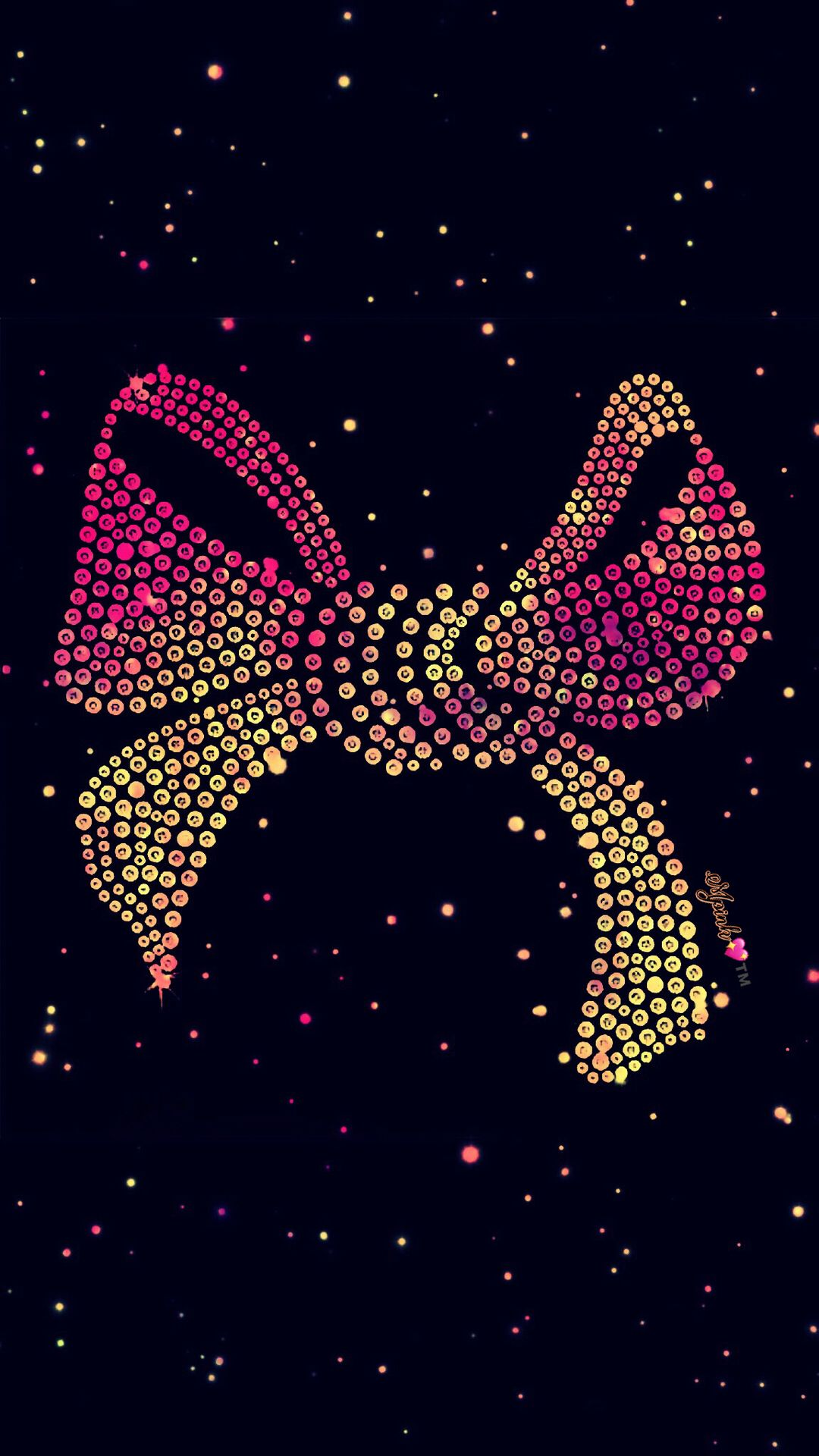 Bling Pink Bow Galaxy Wallpaper Androidwallpaper
