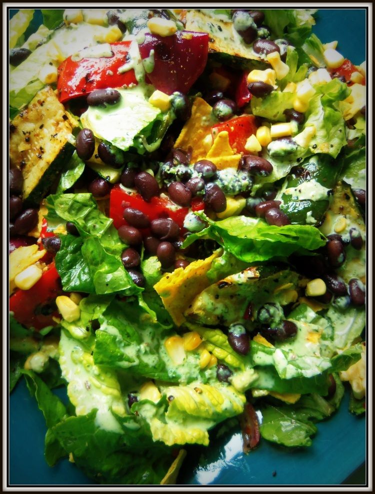 Grilled Vegetable & Black Bean Salad With Cilantro Dressing