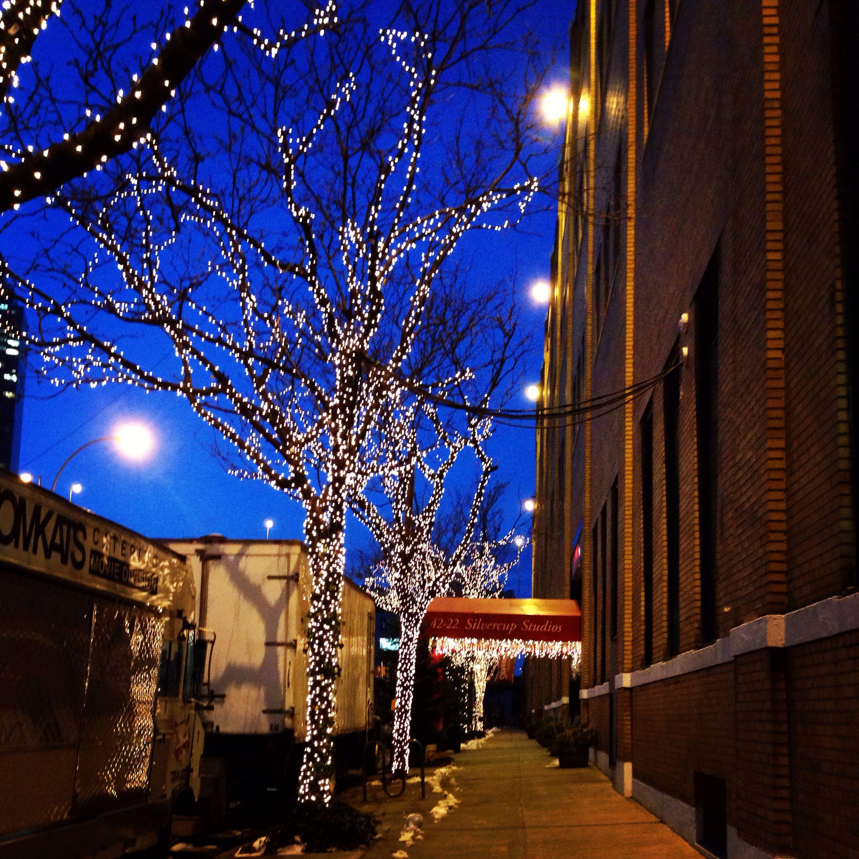 Silvercup Studios At Dawn. #christmas #lights In Long