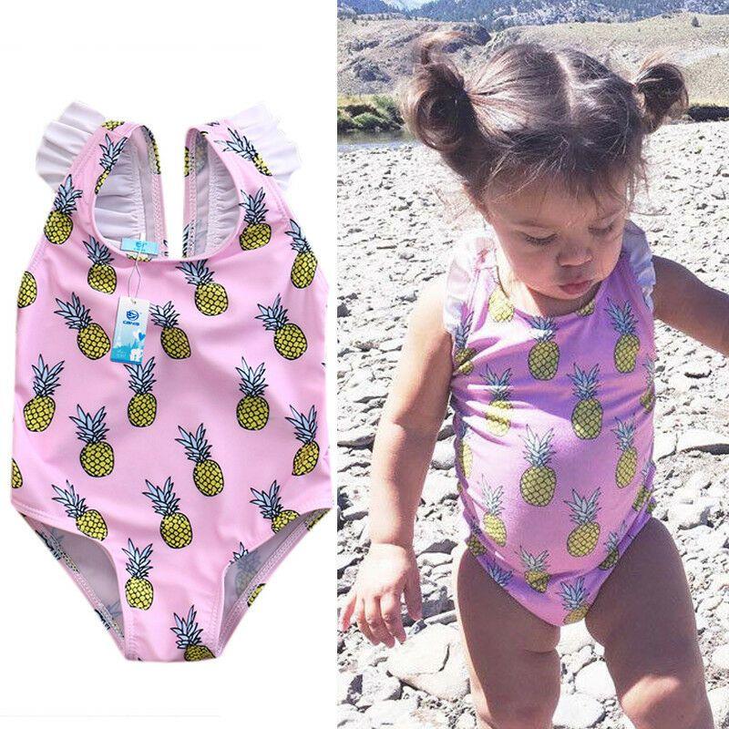 Newborn Toddler Kids Baby Girls Swimwear Swimsuit One-piece Bikini Beachwear US