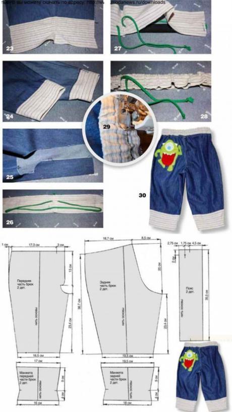 El patrón de los pantalones jeans para el muchacho (la Costura y el ...