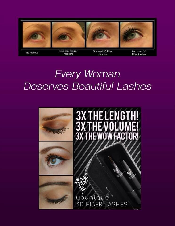Enhance your own lashes with our 3D Fiber Lashes! Http://youniqueproducts.com/NinaMcGrath