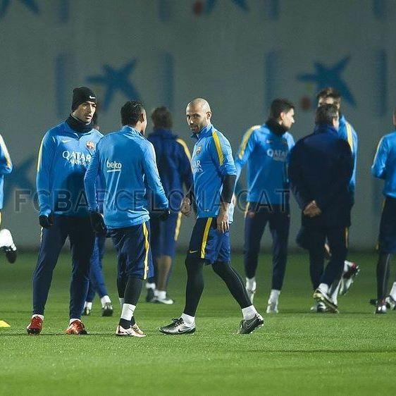 Player's during training session 27-12-2015  #fcbtraining #fcblive #FcBarcelona #igersFCB #Barcelona
