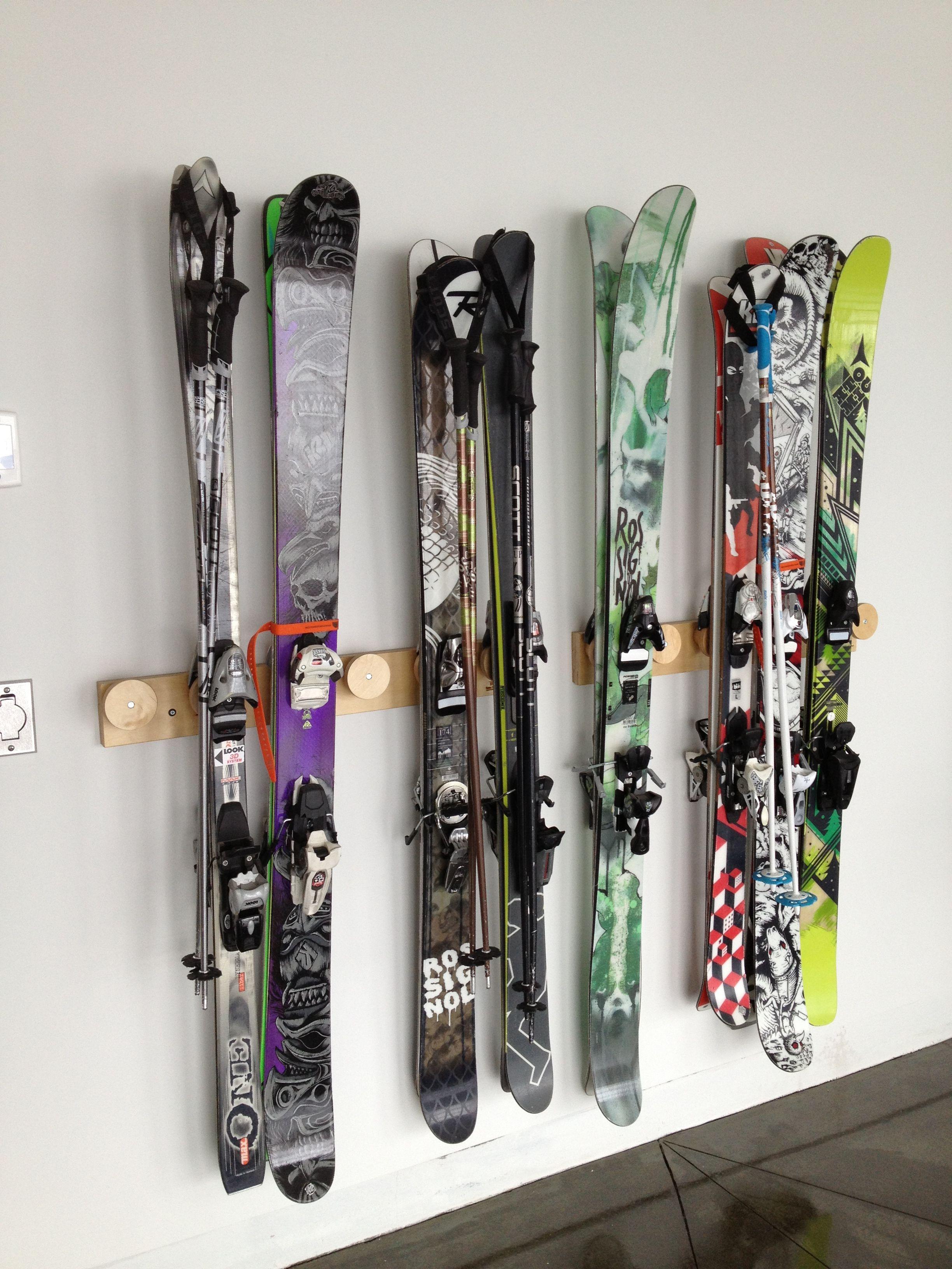 Ski Storage Rack Two Each 6 Position Totti Button Ski