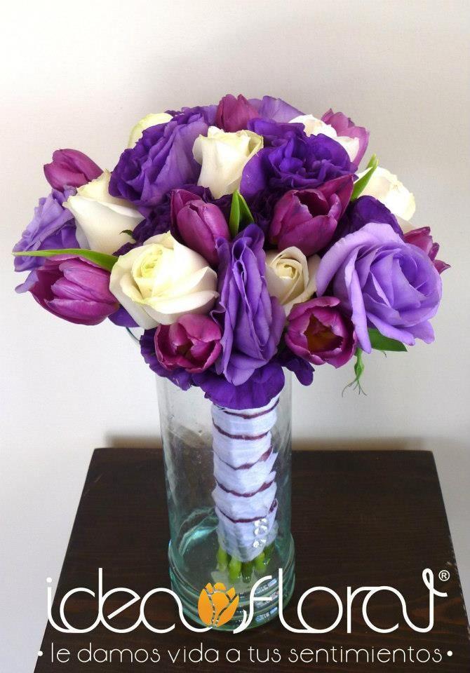 lisianthus morados con toques de rosa en color lila y hermosos ...
